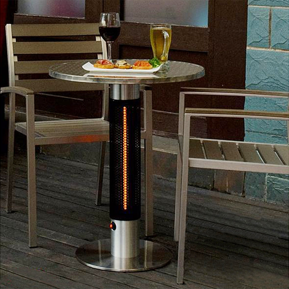Patio Bistro Table / Electric Infrared Table Heater / Bistro-style Electric Round Table Top Heater