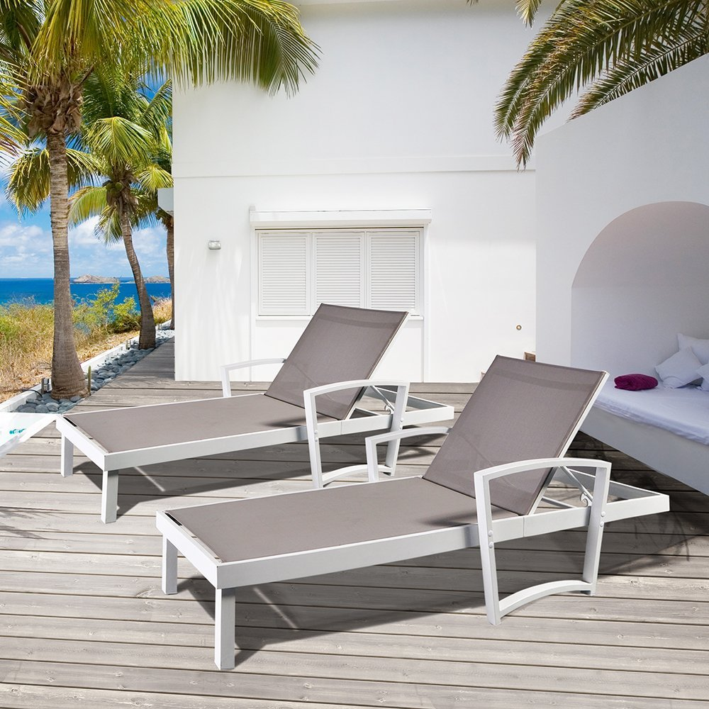Chaise Lounge Chair  / Patio Beach Adjustable Reclining Chair / Sunlounger