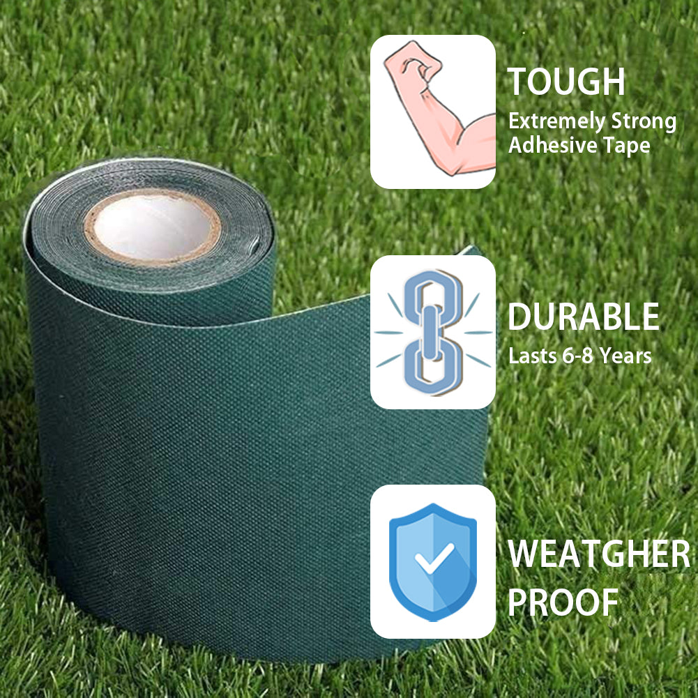 Grass Self-Adhesive Tape / Synthetic Turf Tape / Green Lawn Mat Rug Seaming Turf Tape