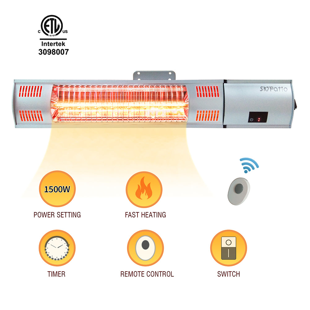 Wall Mounted Infrared Electic Patio Heater / Home Space Heater / Infrared Radiant Heater