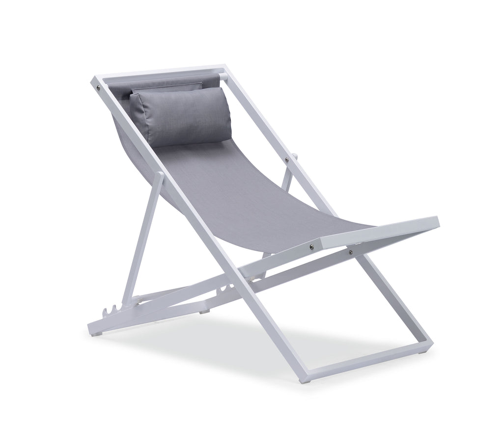 Beach Folding Chair / Outdoor Patio Sling Chair / Camping Chair / Chaise Lounger