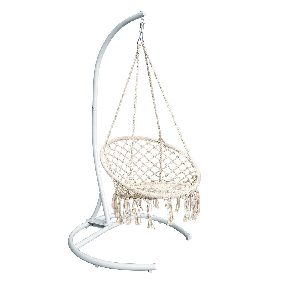 Macrame Swing Hammock Chair / Hammock Hanging Kit / Outdoor Indoor Porch Swing
