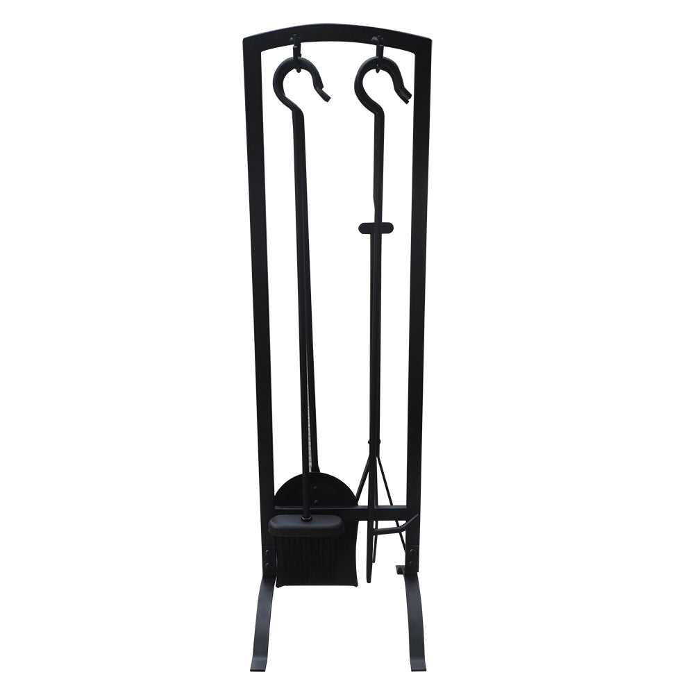 4pcs Fireplace Tools Sets / Wrought Iron Fire set / Fire Pit Stand Holder