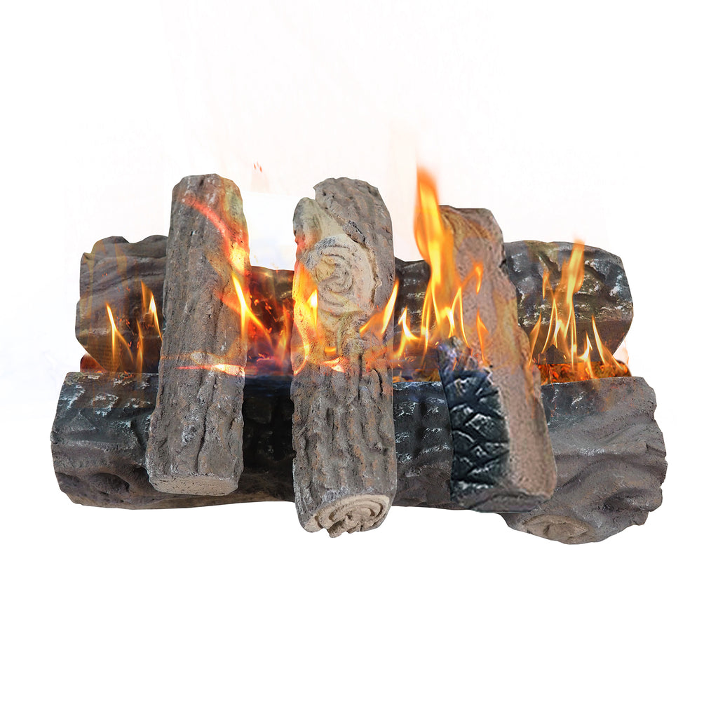 Gas Fireplace Logs / Large Ceramic Logs / Artificial Firewood Logs / Set of 5