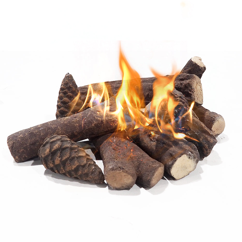 Ceramic Logs / Fire pit Logs / Fireplace Logs Ceramic Woods