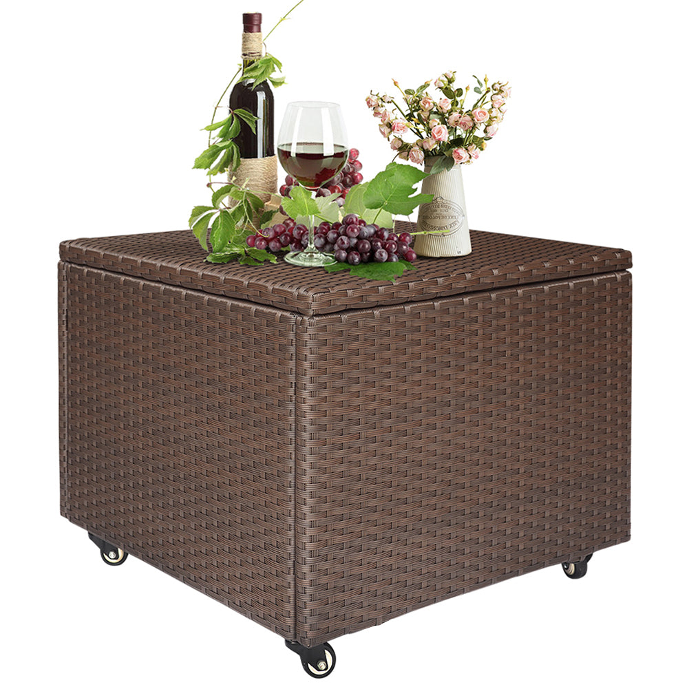 Outdoor Wicker Deck Storage Box / Garden Container / Bench Chest