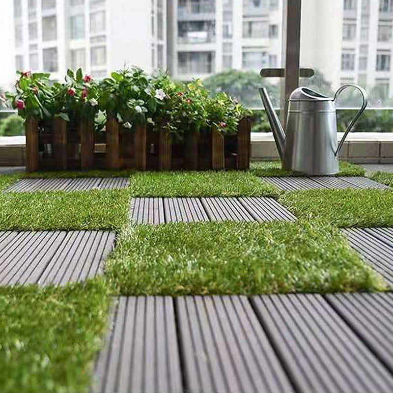 Artificial Grass Turf Tile / Interlocking Self-draining Mat / Grass Flooring / Lawn Floor Mat