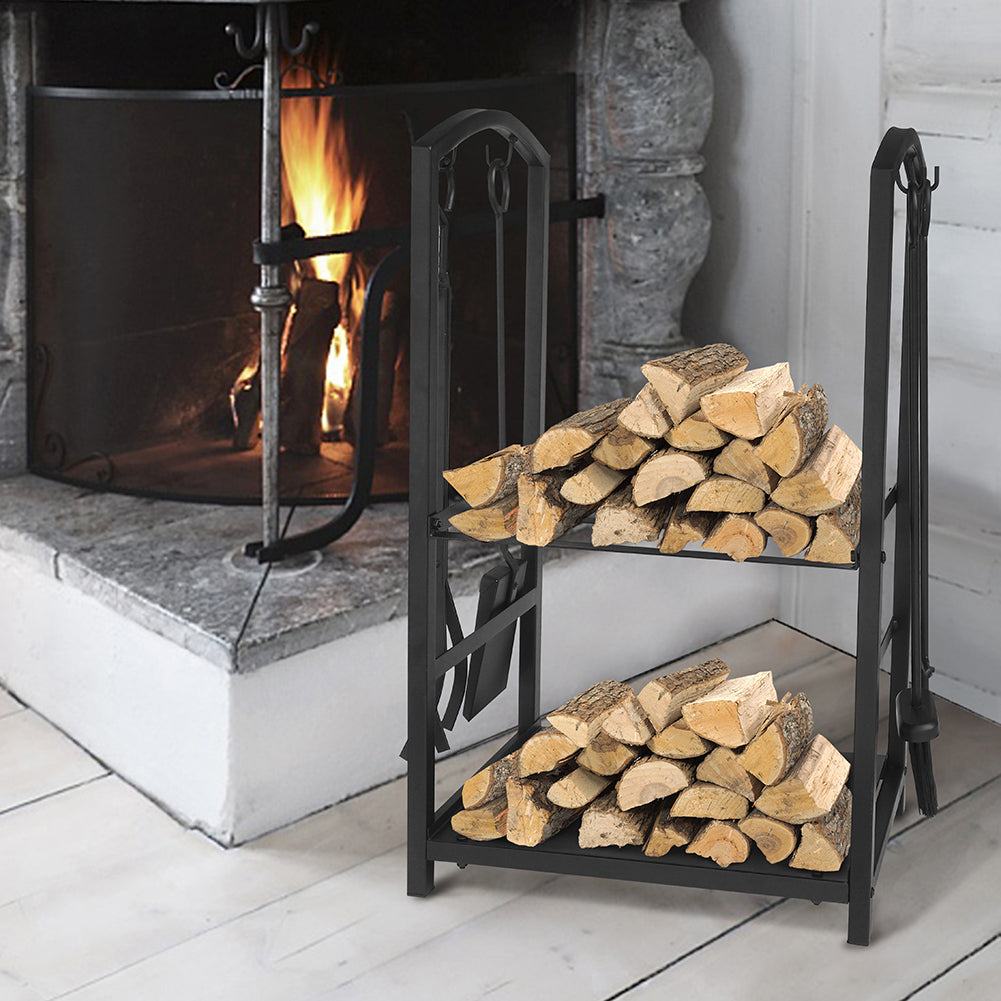 Firewood Log Rack / Fireplace Tool Sets / Firewood Storage Holder/ Fireplace Wood Carrier