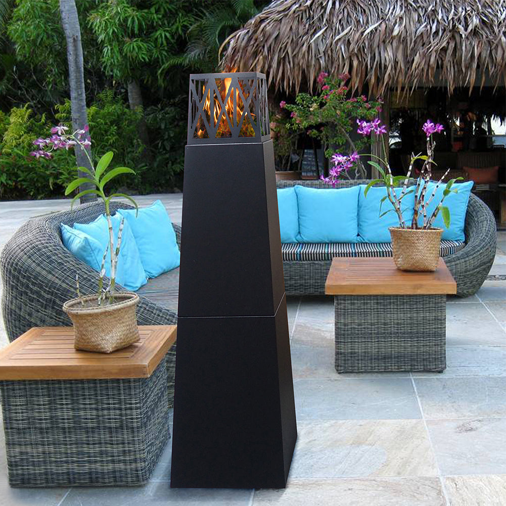 1 Pyramid Outdoor Patio Fire Pit Tower Patio Heater Free