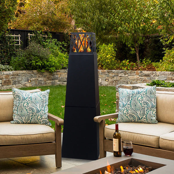 Pyramid Outdoor Patio Fire Pit/ Tower Patio Heater / Free Standing Bio Ethanol Fireplace / Arttoreal Fireplace