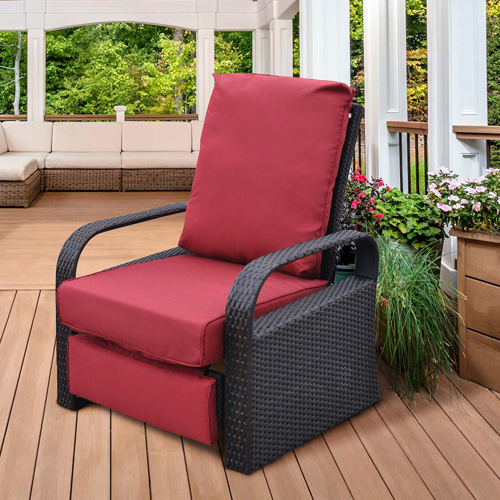 ATR Recliner Cushion Cover / Patio Wicker Recliner Cushion Cover / Deep Seat Cushion Cover