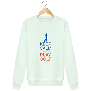 LET'S GOLF IT - Sweat Col Rond KEEP CALM and PLAY GOLF - idées cadeaux golf homme femme