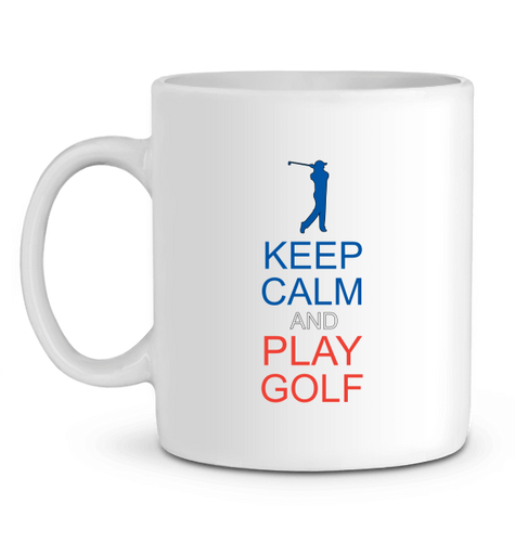 LET'S GOLF IT - Mug KEEP CALM AND PLAY GOLF - idées cadeaux golf homme femme