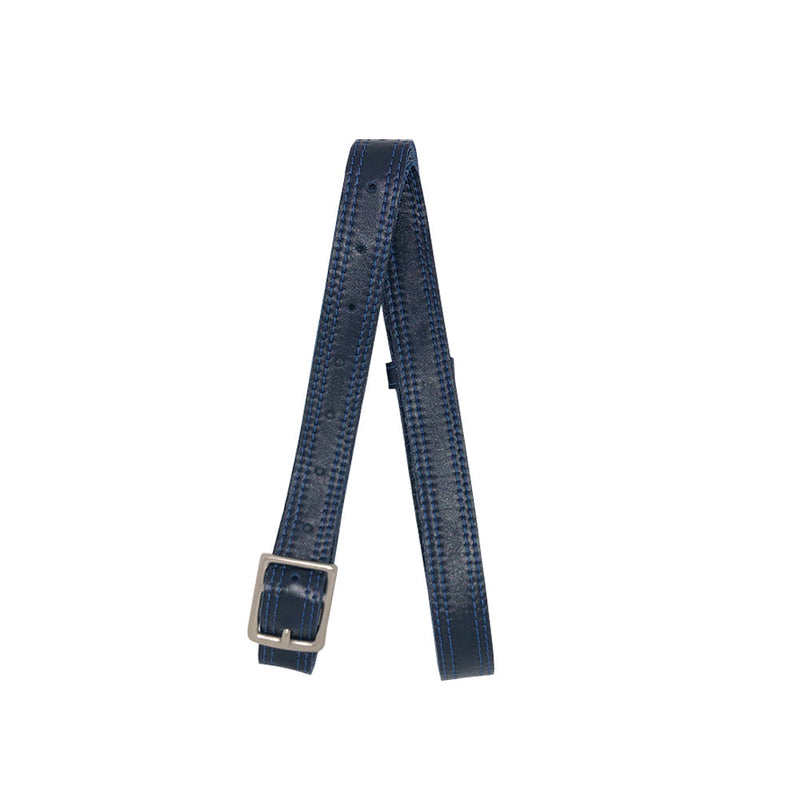 Indigo Blue Double Sided Leather Crossbody Belt - PaulyJen