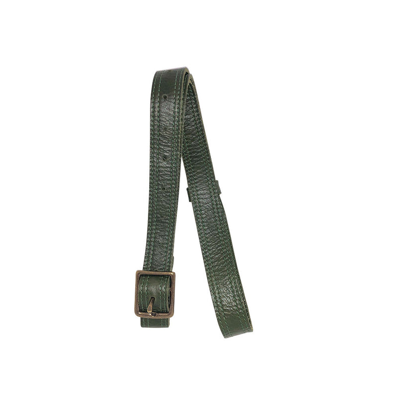 Olive Green Double Sided Leather Crossbody - PaulyJen