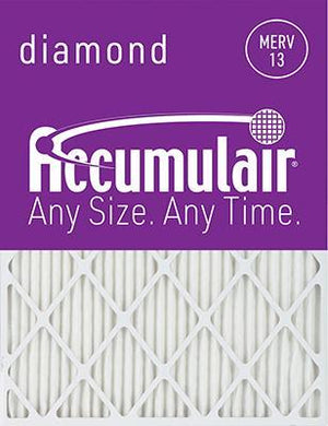 Accumulair Diamond MERV 13 Filter - 11 7/8x16 7/8x2 (Actual Size)