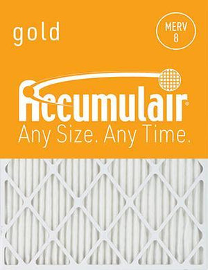 Accumulair Gold MERV 8 Filter - 12x12x1 (Actual Size)