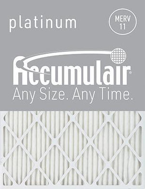 Accumulair Platinum MERV 11 Filter - 8x20x1 (Actual Size)