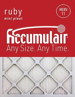 Accumulair Ruby MERV 11 Filter - 10x18x1 (Actual Size)