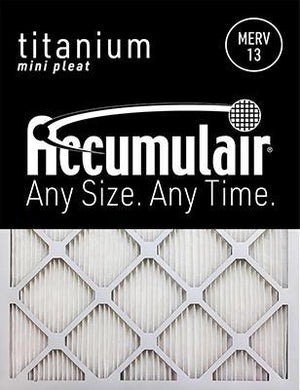 Accumulair Titanium MERV 13 Filter - 22 1/4x25x1 (Actual Size)