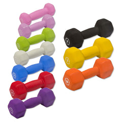 Body Solid - Vinyl Dumbell Set, 1-10lbs Pairs - ENVIOUS BODY