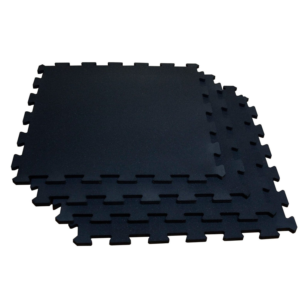 "Body Solid - 4 piece puzzle mat, 19.5"" square, 3/8"" thick, black - ENVIOUS BODY"