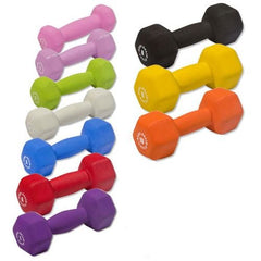 Body Solid - Neoprene Dumbell Set, 1-10lbs Pairs - ENVIOUS BODY