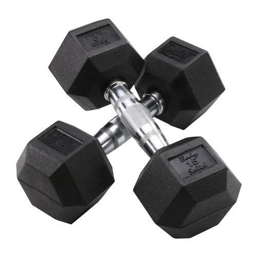 Body Solid - Rubber Hex Dumbell 105-120lb pairs - ENVIOUS BODY