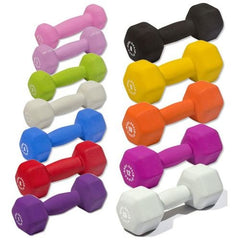 Body Solid - Neoprene Dumbell Set, 1-15lbs Pairs - ENVIOUS BODY