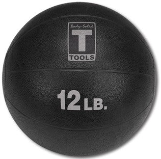 Body Solid - 12lb. Medicine Ball - Black - ENVIOUS BODY