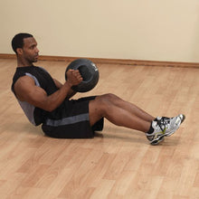 Body Solid - 16LB BLACK Dual Grip Medicine Ball - ENVIOUS BODY