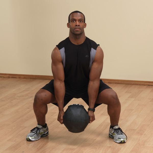 Body Solid - 10LB BLACK Dual Grip Medicine Ball - ENVIOUS BODY
