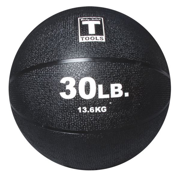 Body Solid - 30LB BLACK Medicine Ball - ENVIOUS BODY