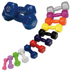 Image of Body Solid - Vinyl Dumbell Set, 1-15lbs Pairs