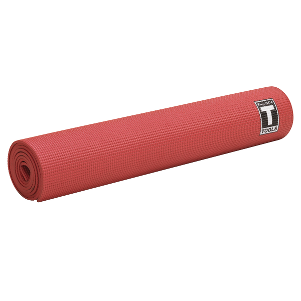 Body Solid - 5mm Red Yoga Mat - ENVIOUS BODY