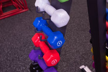 Body Solid - 12 Pairs Vinyl Dumbbells 1-15lbs, with GDR24 Rack - ENVIOUS BODY