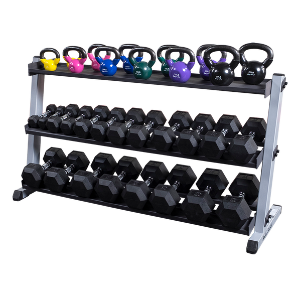 Body Solid - GDR60 KETTLEBELL SHELF - ENVIOUS BODY