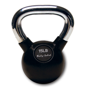 Body Solid - Chrome Handle, Rubberized Kettle Bell Set 5-30 Singles - ENVIOUS BODY