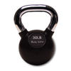 Image of Body Solid - Chrome Handle, Rubberized Kettle Bell Set 5-30 Singles - ENVIOUS BODY