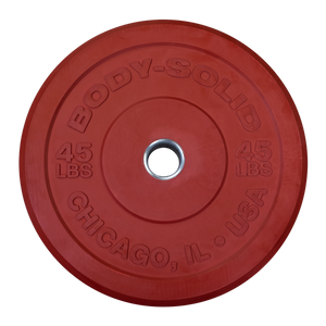 "Body Solid - Red 45lb Chicago Extreme Bumper, 17.72"", Full Commercial - ENVIOUS BODY"