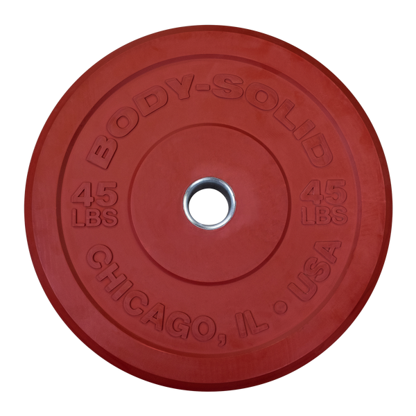 Body Solid - Red 45lb Chicago Extreme Bumper, 17.72