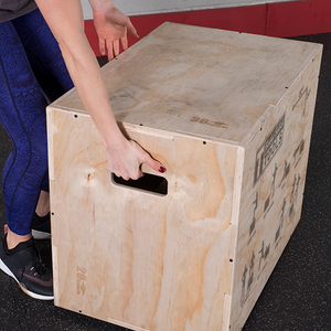 "Body Solid - 3 Way Wooden Plyo Box, 20"", 24"", 30"" - ENVIOUS BODY"