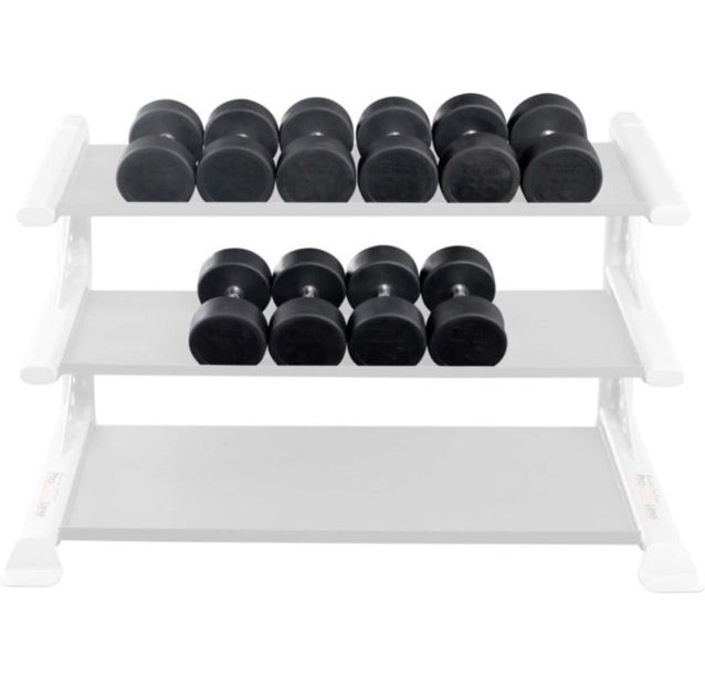 Body Solid - Rubber Round Dumbell 55-75lb pairs - ENVIOUS BODY