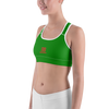 Image of Woman's - Green EnviousBody Sports bra