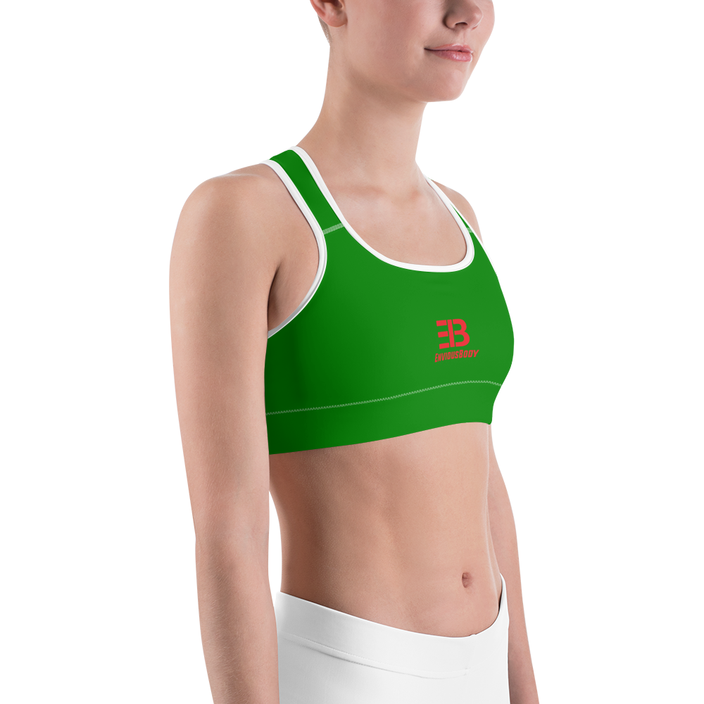 Woman's - Green EnviousBody Sports bra