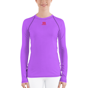 Woman's - Light Purple EnviousBody Rash Guard