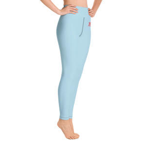 Woman's - Light Blue EnviousBody Over Belly Button Leggings