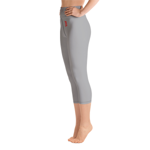Woman's - Grey EnviousBody Over Belly Button Capri Leggings