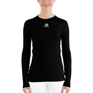 WOMAN'S - BLACK ENVIOUSBODY RASH GUARD