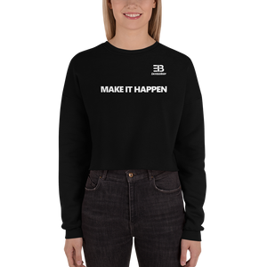 Woman's Enviousbody Fleece Crop Sweatshirt Fresh Look Make It Happen Collection